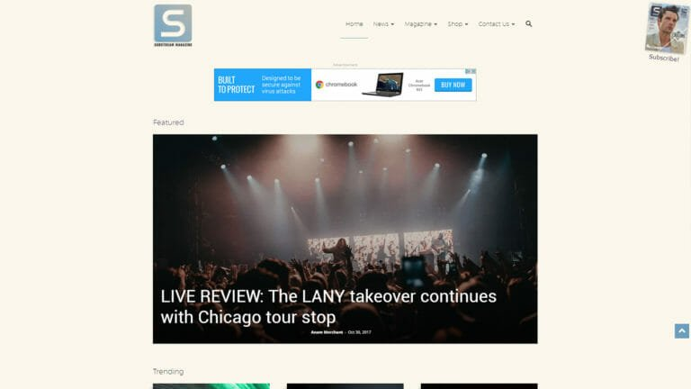 Substream Magazine Website Redesign in Clevleand Oh