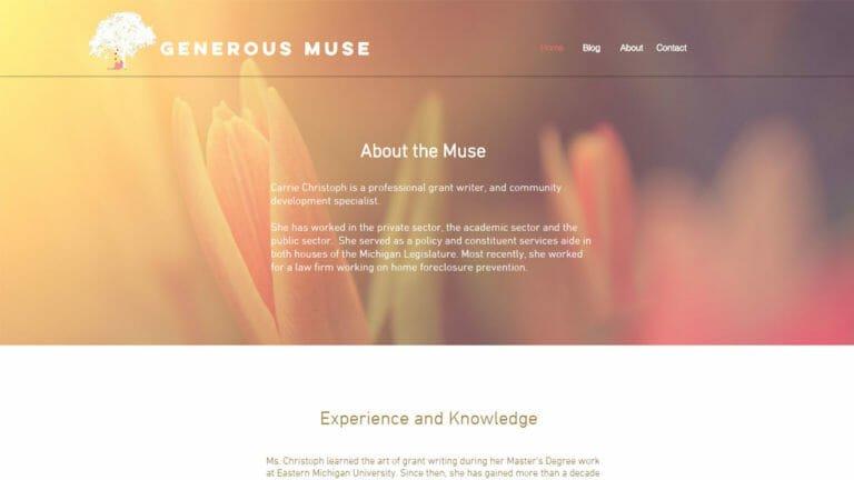 Generous Muse Website Design