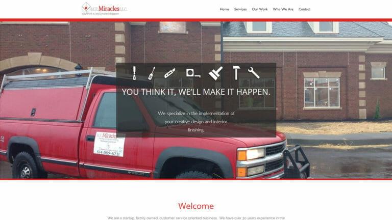 MR Miracle Handyman Website Design