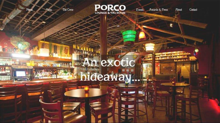Porco Lounge Website Design - Cleveland Ohio