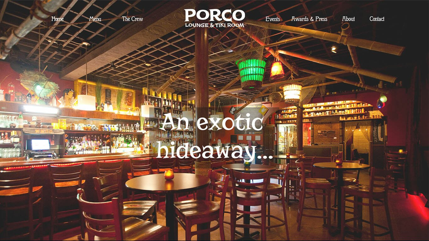 Porco Lounge Website Design - Cleveland Ohio