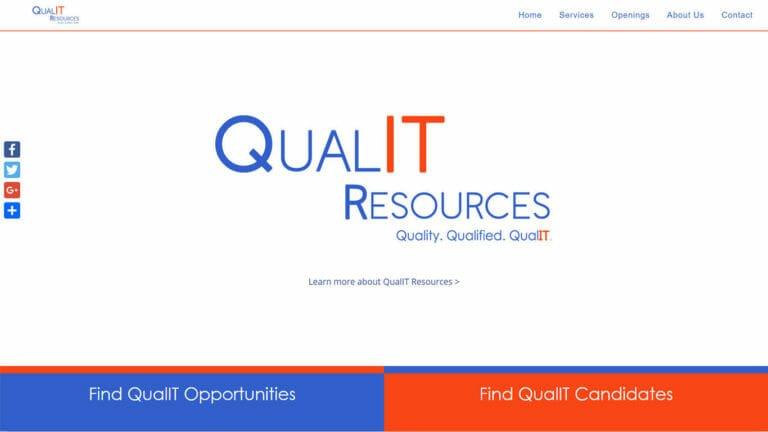 Qual-IT Resources Website Design
