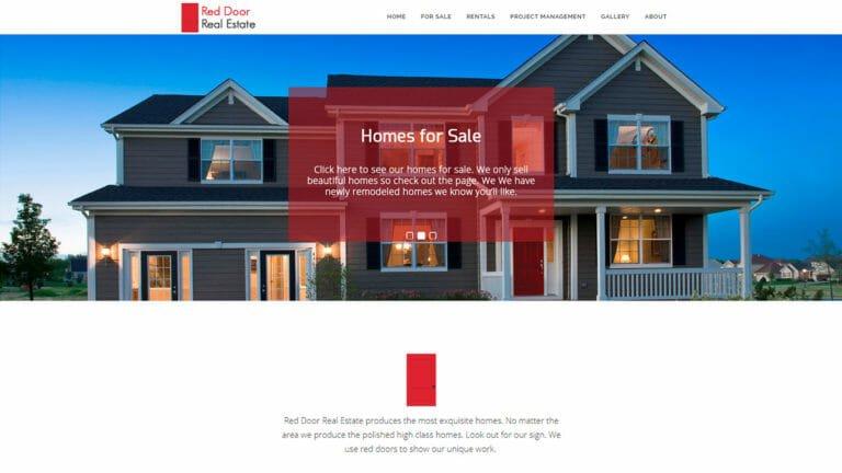 Red Door Real Estate Web Design
