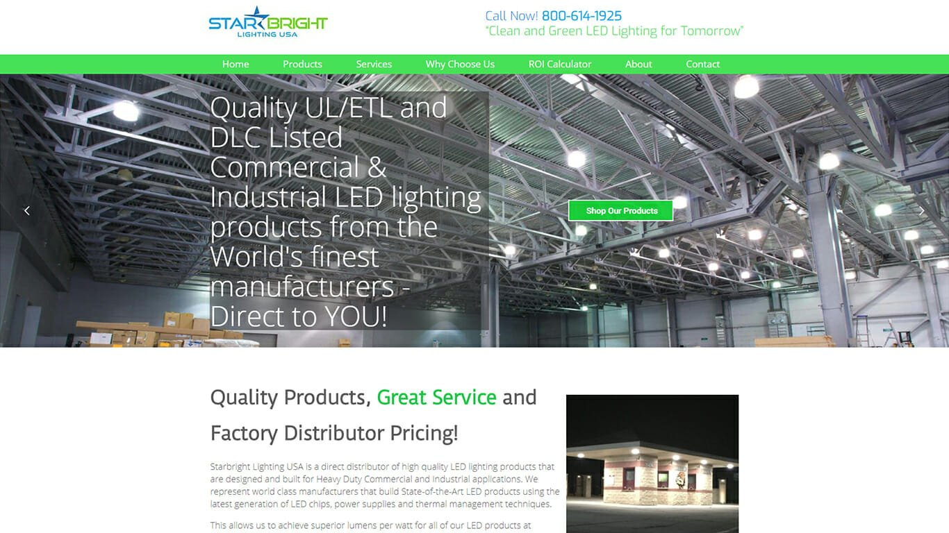 Starbright Lighting USA Web Design Project