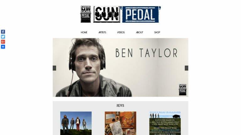 Sun Pedal Recordings Website Design