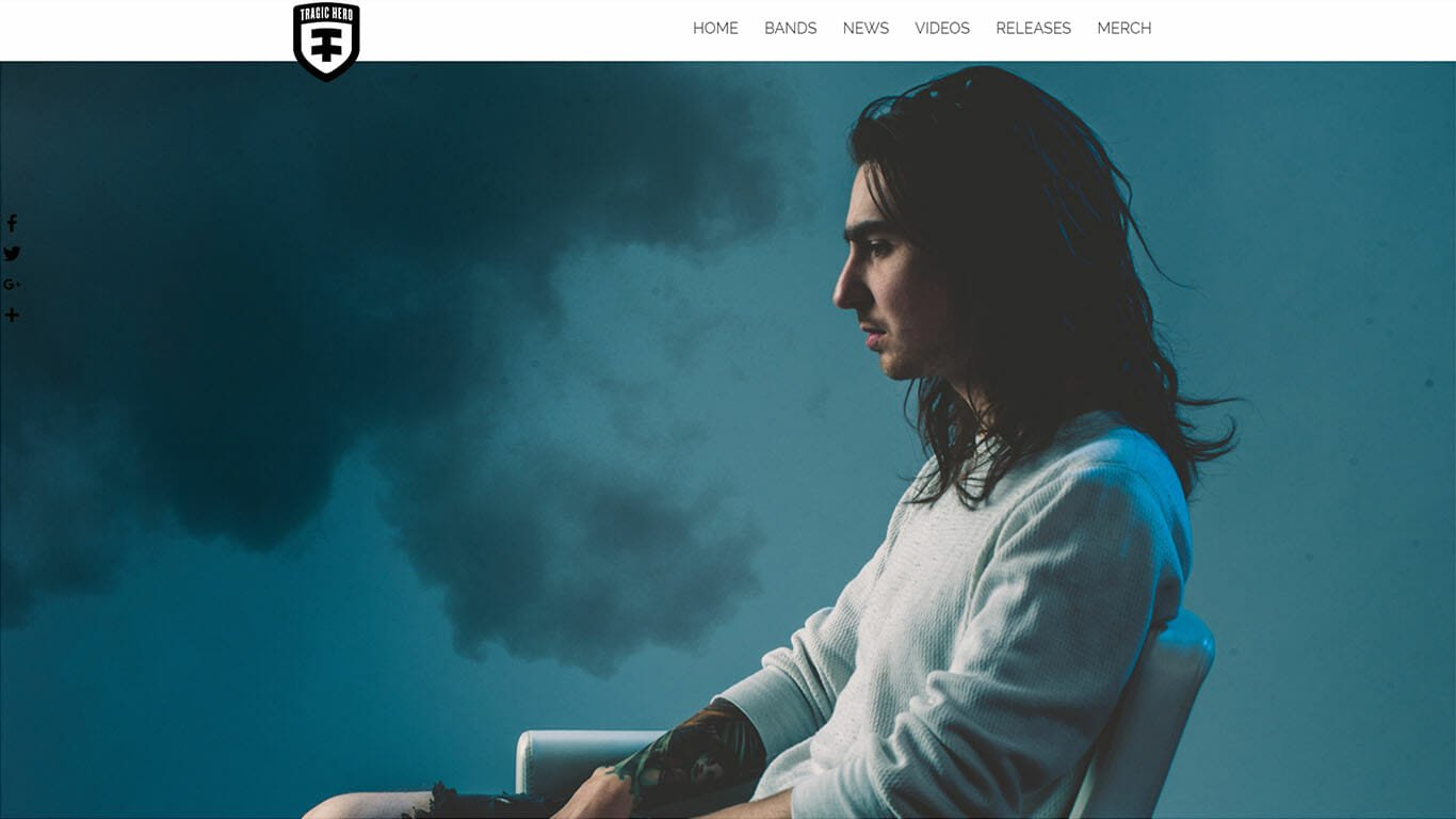 Tragic Hero Records Web Design by MarvelousWeb Media