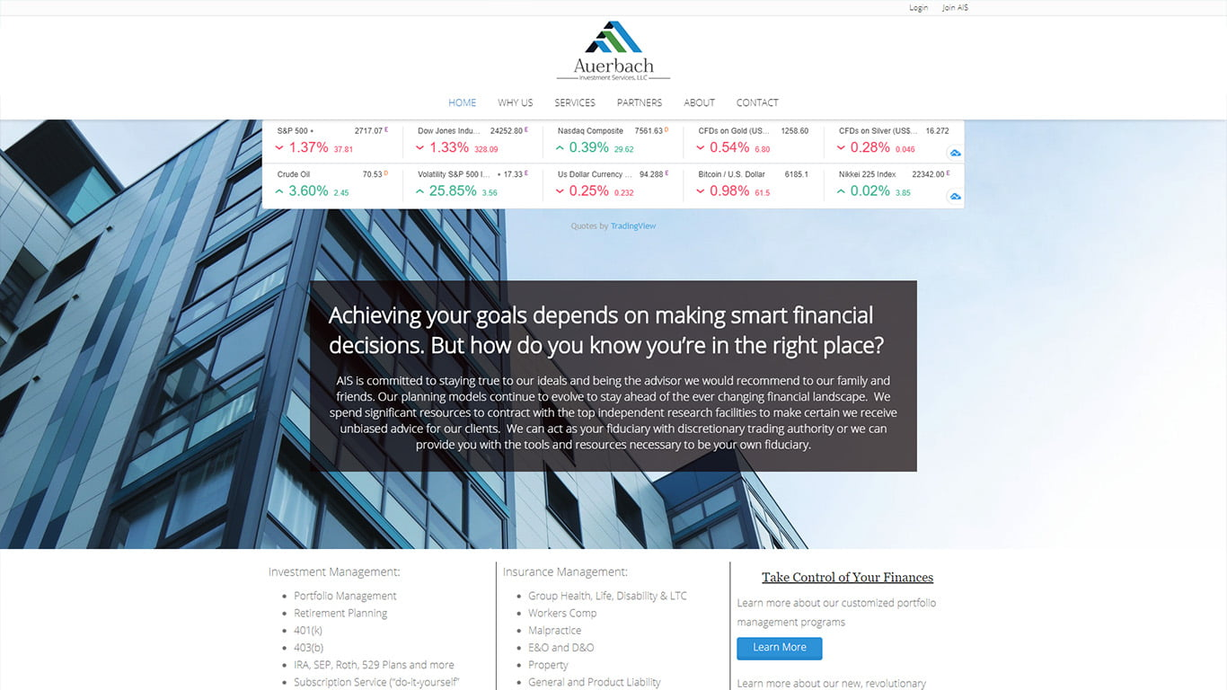 Investment Website Design by MarvelousWeb