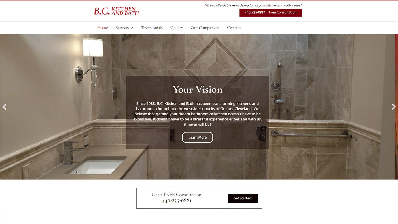home remodeling website deisgn in Cleveland