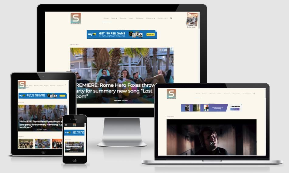 magazine mobile website design